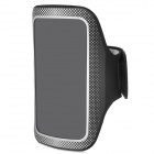 Trendy Sports Soft Fabric Armband for Iphone 5 - Black