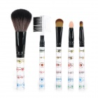 Professional Cosmetic Makeup 5-in-1 Brushes Set - Multicolored