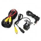 Waterproof Car Rearview Camera w/ 4-LED Night Vision Lights - Black (DC 12V / PAL)