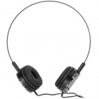 Feinier FE-S498 Portable Stereo Headphone w/ Microphone - Black (3.5mm Plug)