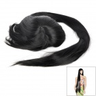 E200 Cosplay Fashion Oblique Fringe Long Straight Hair Wig - Black (100cm)
