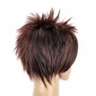 8210 2/33 Fashion Man's Short Straight Hair Wig - Brown