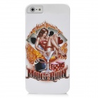 Hot Lady Pattern Protective PC Back Case for Iphone 5 - White + Red + Golden
