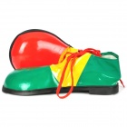 Funny Clown Halloween Costume PU Shoes - Red + Green (1-Pair)