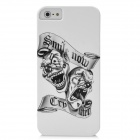 2-Ghost Smile Pattern Protective PC Hard Back Case for Iphone 5 - White + Black