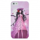 Beautiful Grace Girl Pattern Protective PC Hard Back Case for iPhone 5 - Pink