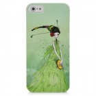 Lily Girl Pattern Protective PC Back Case for Iphone 5 - Green