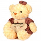 Cute PP Cotton + Plush Bear Toy - Yellow