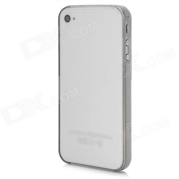 Stylish Protective Bumper Frame Case for Iphone 4 / 4S - Translucent White