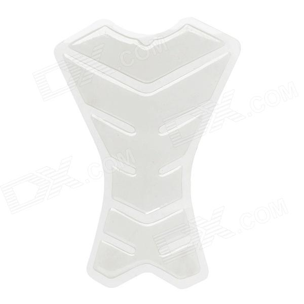 Protective Fish Bone Style Motorcycle Oil Tank Sticker - Ivory White