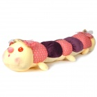 Lovely PP Cotton + Plush Dual Head Caterpillar Toy - Beige + Purple + Pink