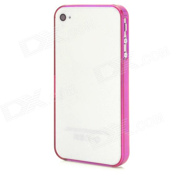 Stylish Protective Bumper Frame Case for Iphone 4 / 4S - Deep Pink