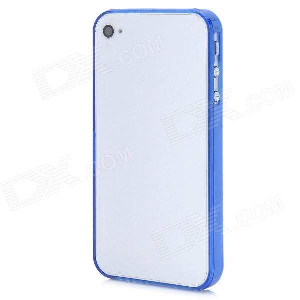 Stylish Protective Bumper Frame Case for Iphone 4 / 4S - Dark Blue