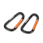 Munkees Aluminum Alloy Quick-Release Carabineer Hook - Black (2 PCS)