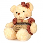 Cute PP Cotton + Plush Bear Toy - Beige