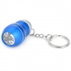 Mini Aluminum Alloy 3-LED White Light Flashlight Keychain - Blue (3 x AG10)