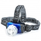 New-8202A 3W LED 170lm 3-Mode White Light Headlamp - Blue + Silver (3 x AAA)