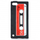 Unique Retro Cassette Tape Style Protective Silicone Soft Back Case for Ipod Touch 5 - Black