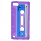 Cassette Tape Style Protective Silicone Back Case for iPod Touch 5 - Purple