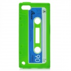 Unique Retro Cassette Tape Style Protective Silicone Soft Back Case for iPod Touch 5 - Green