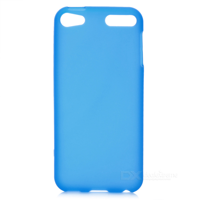 protective soft silicone back case for ipod touch 5 orange Protective Matte TPU Soft Back Case for Ipod Touch 5 - Translucent Blue