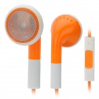 IPY-58 Stylish Earphone w/ Mic + Volume Control for iPhone 5 - Orange (3.5mm Plug / 115cm-Cable)