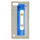 Unique Retro Cassette Tape Style Protective Silicone Soft Back Case for iPod Touch 5 - Grey