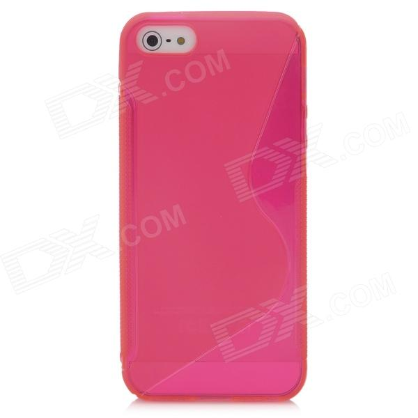 Stylish Protective Plastic Back Case for Iphone 5 - Deep Pink water drop style protective plastic back case for samsung galaxy s4 i9500 yellow orange