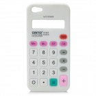 Unique Calculator Style Protective Silicone Soft Back Case for Iphone 5 - White