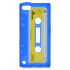 Unique Retro Cassette Tape Style Protective Silicone Soft Back Case for iPod Touch 5 - Blue
