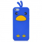 Cute Chicken Style Protective Soft Silicone Back Case for Iphone 5 - Dark Blue
