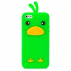 Cute Chicken Style Protective Soft Silicone Back Case for Iphone 5 - Green
