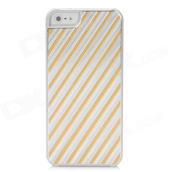 Stripe Style Protective Aluminum Alloy Back Case for Iphone 5 - Silver + Orange e27 e40 street lighting 70w 100w 120w 180w corn lamp e26 e39 led bulb light for industrial high bay warehouse engineer spotlight