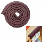 Stripe Style Baby Safety Anti-Collision Strip Table Corner Cushion Cover Protector Guard - Brown