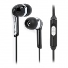 Feinier FE-S16 3.5mm Plug In-Ear Stereo Earphone w/ Microphone - Black (2.2m)
