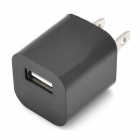 """ZY-1000 """"1000mA"""" USB Power Adapter / Charger for iPhone / iPod - Black (2-Flat-Pin Plug / 110~240V)"""