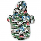 Cute Cartoon Pattern Pet Dog Apparel 2-Leg Holes Clothes - Camouflage (Size M)