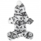Cute Deer Pattern Pet Dog Apparel 4-Leg Holes Clothes - Grey + White (Size L)