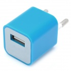 """ZY-1000 """"1000mA"""" USB Power Adapter / Charger for iPhone / iPod - Blue (AC 110~240V / EU Plug)"""