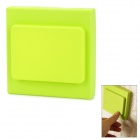 Colored Square Shaped Decorative Protective Silicone Switch Plate Cover - Green