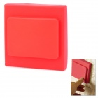 Colored Square Shaped Decorative Protective Silicone Switch Plate Cover - Red