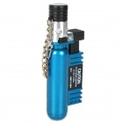 Mini Stainless Steel + Plastic Windproof Butane Gas Lighter - Azure Blue + Silver + Black