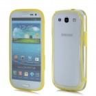 Protective ABS + Silicone Bumper Frame Case for Samsung i9300 - Yellow + Translucent White