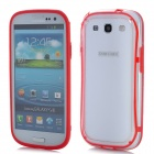 Protective ABS + Silicone Bumper Frame Case for Samsung i9300 - Red + Translucent White