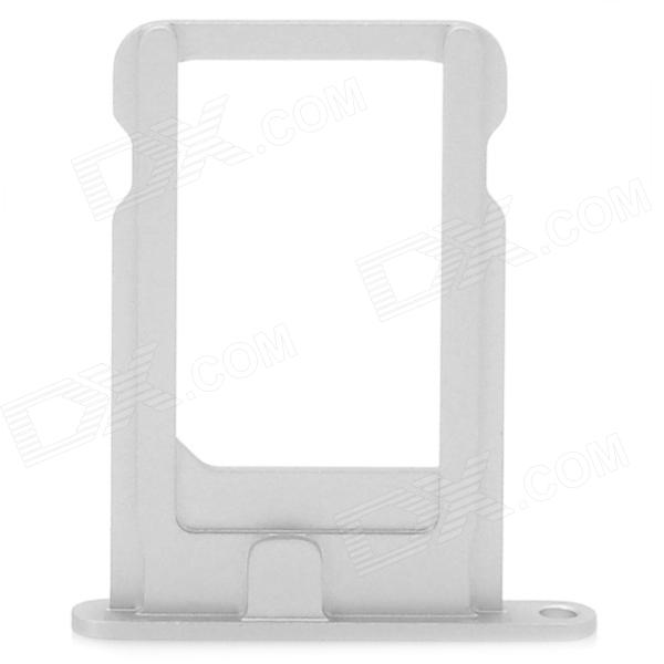 Replacement Plastic Card Tray Holder for iPhone 5 - Silver