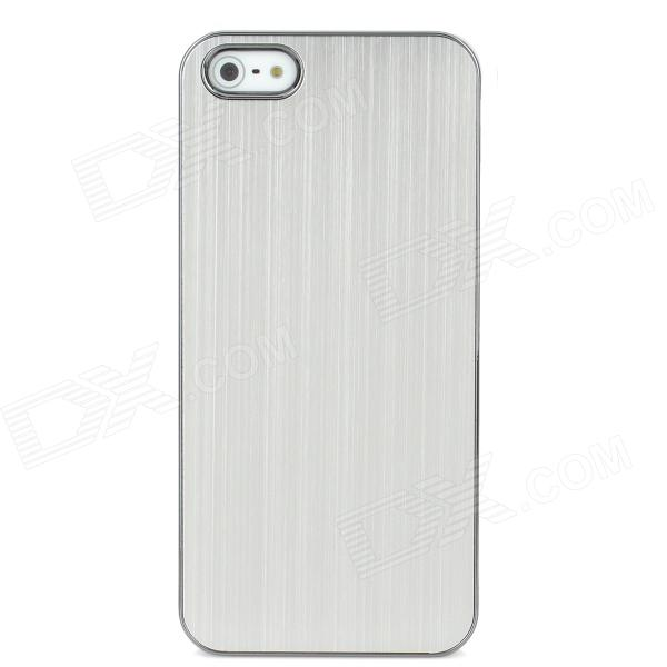 Stylish Protective Aluminum Alloy Back Case for Iphone 5 - Silver qqv6 aluminum alloy 11 blade cooling fan for graphics card silver 12cm