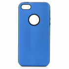 Protective Aluminum Alloy Back Case for iPhone 5 - Blue