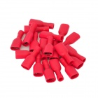 DIY Insulated Female Wire Connecting Terminal - Red (20 PCS)