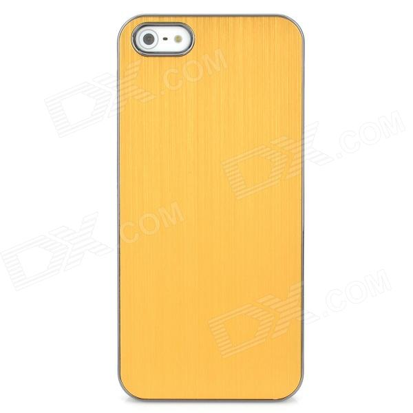 Protective Aluminum Alloy Back Case for Iphone 5 - Golden