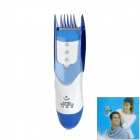 STM982 Rechargeable Electric Hair Trimmer Clipper - White + Blue (EU Plug)